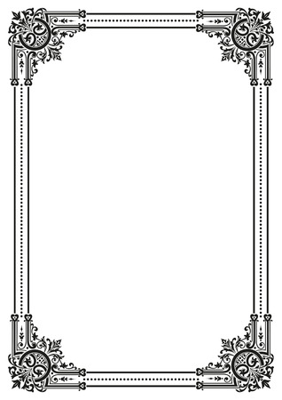 Decorative retro frame. Vector file available Ilustracja