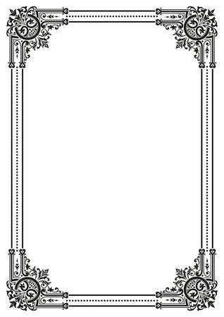 Decorative retro frame. Vector file available Illustration