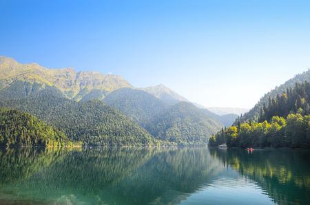 abkhazia: Ritza lake - Abkhazia. Stock Photo