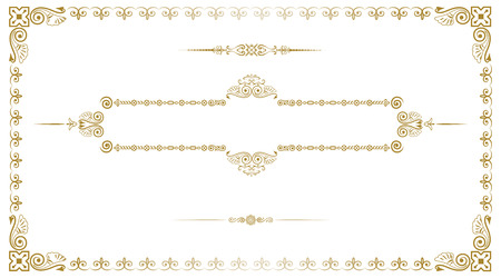 Decorative gold frame for business card