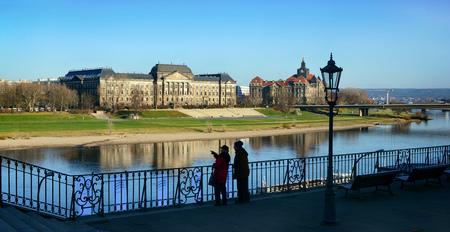 Autumn scene in nice day in Dresden, Germany.