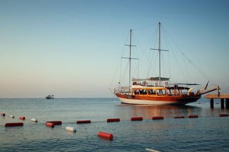Yacht on the coast of Turkey.