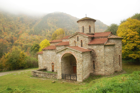 Ancient orthodox church in Arhyz.Karachai.North Caucasus.Russia. Stock Photo