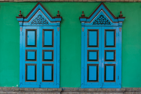 xinjiang: Windows of Uygur dwellings in Xinjiang, Yili, China