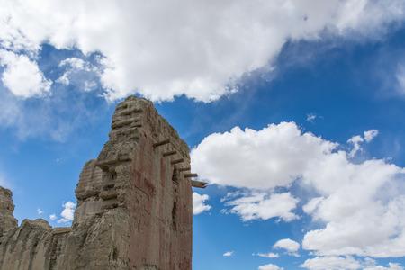 チベット、中国のチベットグゲ王国遺跡 写真素材
