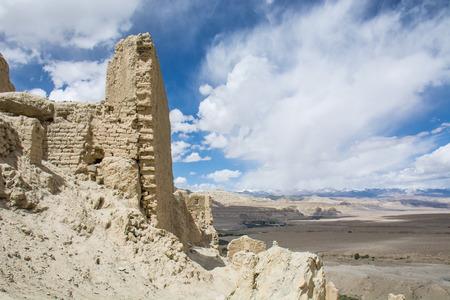 チベットのグージ王国遺跡、中国 写真素材