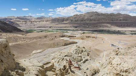 チベットの王国遺跡、中国 写真素材