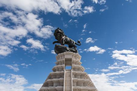 Shiquanhe 町の Junggar 広場、アリ地域、チベット