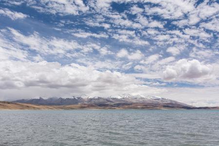 チベットの Manasarova 湖、中国