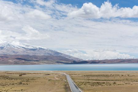 チベットの Lhanag-tso、中国