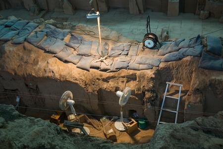 中国の兵馬俑の考古学サイト
