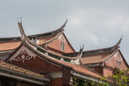 The traditional Chinese eaves decoration Editorial