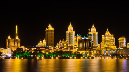 Night view of Inner Mongolia, Manchuria, China Фото со стока
