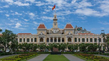 City Hall in Ho Chi Minh City of Vietnam Archivio Fotografico