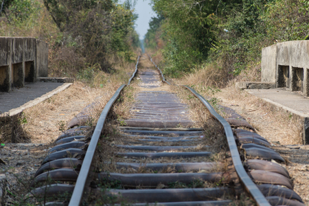 Bamboo train in Cambodia 版權商用圖片