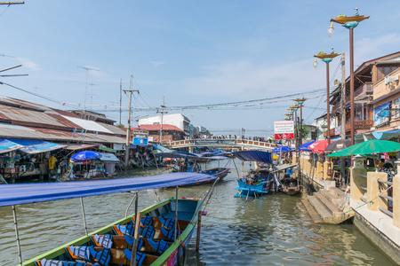 Amphawa Floating Market in Bangkok,Thailand