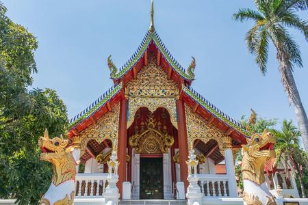 チェンマイのワット・チェン・マン(タイ) 写真素材