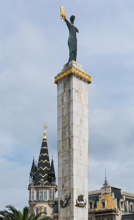 Georgia Square landmark statue, Batumi, Georgia