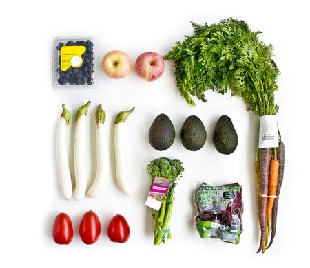 Fresh Produce Spread Isolate On White