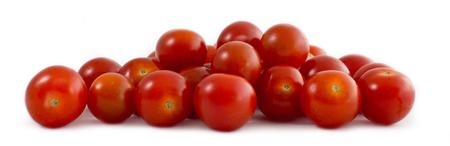 Organic Cherry Tomatoes Isolate On White Banco de Imagens