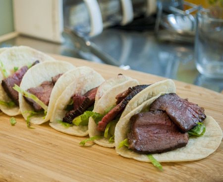 Steak Tacos on the table
