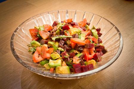 Avocado Salad On Table. Banco de Imagens