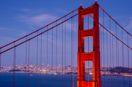 san francisco golden gate bridge: Golden-gate Bridge Close-up, San Francisco, California. Stock Photo