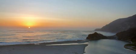 sur: Sunset over Big Sur, California Stock Photo
