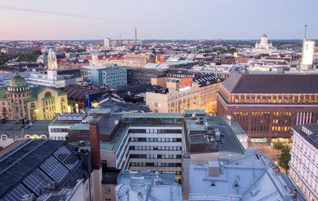 helsinki: Aerial panorama of Helsinki, Finland