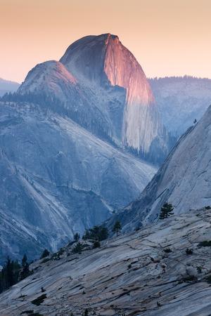 half dome: Half Dome Sunset, Yosemite National Park
