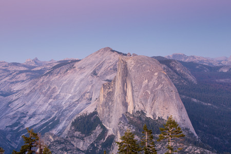 the sentinel: Half Dome from Sentinel Dome, Dusk, Yosemite National Park, CA
