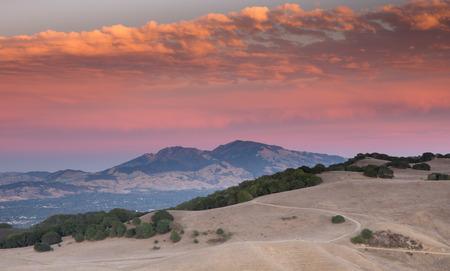martinez: Sunset over Mount Diablo from Briones Regional Park, Martinez, CA