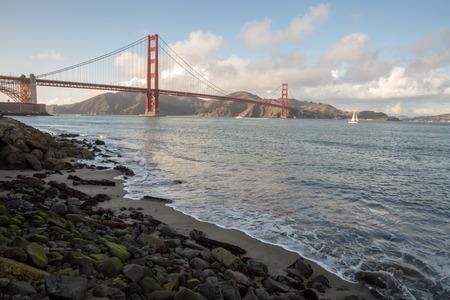 national historic site: Golden Gate Bridge from Fort Point National Historic Site in San Francisco