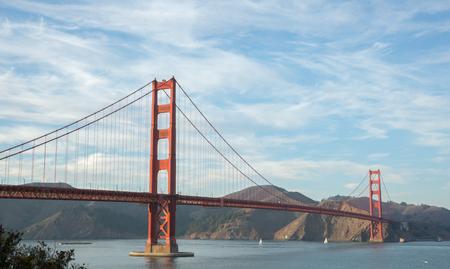 wispy: Golden-Gate Bridge in wispy skies Stock Photo