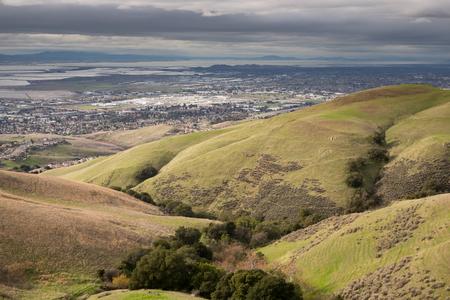 サンフランシスコから半島を上記の。カリフォルニア州北部の風景です。