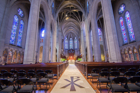 episcopal: SAN FRANCISCO, CALIFORNIA - March 29, 2015: Grace Cathedral church of the Episcopal Diocese of California.