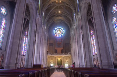 episcopal: SAN FRANCISCO, CALIFORNIA - May 24, 2015: Grace Cathedral church of the Episcopal Diocese of California. Editorial