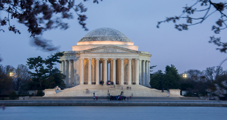 dc: Thomas Jefferson Memorial, Dusk, National Mall, Washington D.C. Editorial