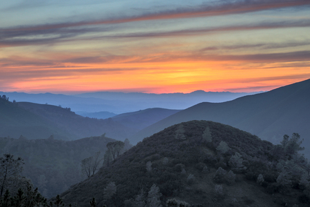 diablo: Sunset of rolling hills. Mt. Diablo State Park, California.