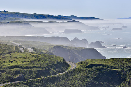 sonoma: Foggy morning at Bodega Bay, Sonoma County, Californias Pacific Coast