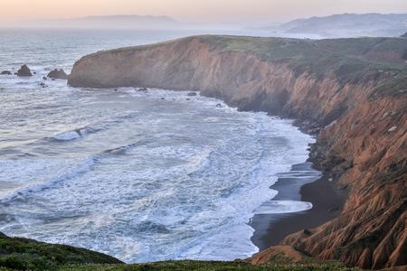 mori: Sunset at Mori Point, Pacifica, San Mateo County, California Stock Photo