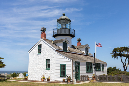 Point Pinos Lighthouse. Pacific Grove, Monterey County, California, USA.