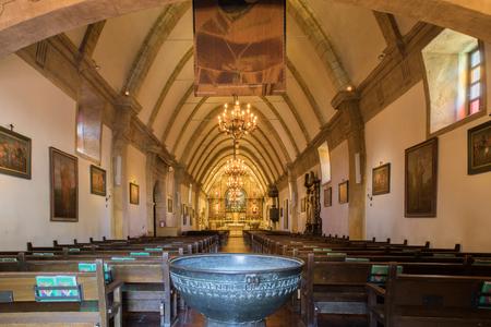 The Basilica of Mission San Carlos Borromeo Del Rio Carmelo (Commonly Known As Carmel Mission). Carmel By The Sea, Monterey County, California, USA