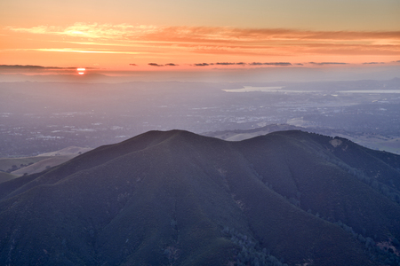 Mt Diablo State Park Sunset from Eagle Peak. Contra Costa County, California, USA. Stock Photo