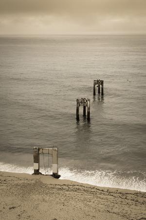 Abandoned Davenport Pier. Davenport, Santa Cruz County, California, USA.