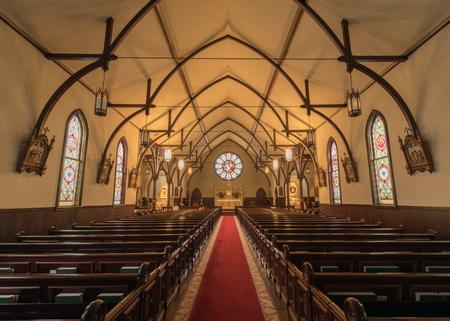 Menlo Park, California - November 20, 2017: Interior of Church of the Nativity