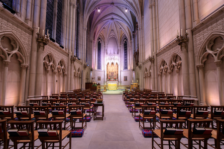 San Francisco, California - December 28, 2017: Interior of Chapel of Grace in Grace Cathedral Church
