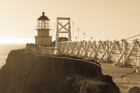 Point Bonita Lighthouse. Point Bonita, Marin County, California, USA. Stock Photo