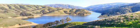 Lake Del Valle Panorama. Del Valle Regional Park, Alameda County, California, USA.