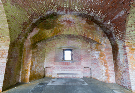 San Francisco, California - April 7, 2018: Interiors of Fort Point National Historic Site